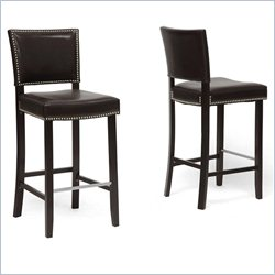 Aries Bar Stool in Brown (Set of 2)