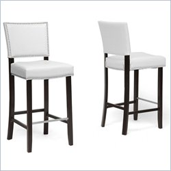 Aries Bar Stool in White (Set of 2)