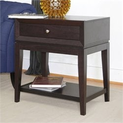 Morgan Accent Table and Nightstand in Dark Brown