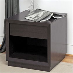 Girvin Accent Table and Nightstand in Dark Brown