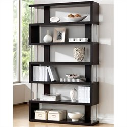 Barnes Modern Bookcase in Dark Brown