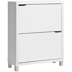 Simms Modern Shoe Cabinet in White