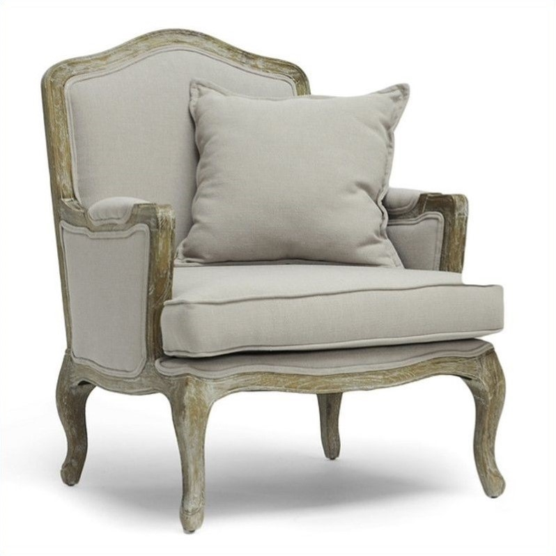 Constanza Classic Accent Arm Chair In Beige Ta2256 Beige