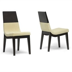 Prezna Dining Chair in Beige (Set of 2)