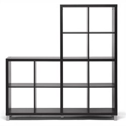 Sunna Cube Shelving Unit in Dark Brown