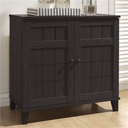 Glidden Short Shoe Cabinet in Dark Brown