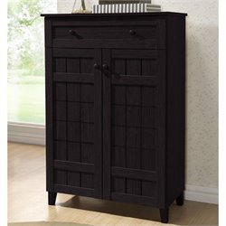 Glidden Tall Shoe Cabinet in Dark Brown