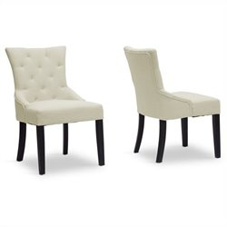 Epperton Dining Chair in Beige (Set of 2)