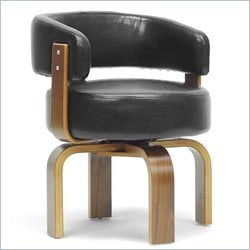 Fortson Accent Chair in Walnut and Black