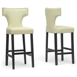 Hafley Bar Stool in Beige (Set of 2)