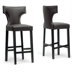 Hafley Bar Stool in Brown (Set of 2)