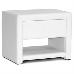 Massey Nightstand in White
