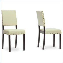 Walter Dining Chair in Cream (Set of 2)