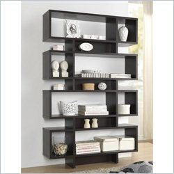 Cassidy 8-level Bookshelf in Espresso