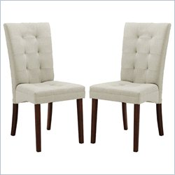 Anne Dining Chair in Beige (Set of 2)