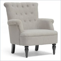 Crenshaw Fabric Tufted Club Chair in Gray