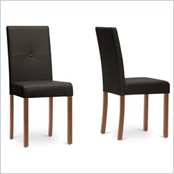 Curtis Dining Chair in Dark Brown (Set of 2)