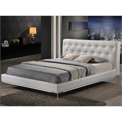 Panchal Queen Platform Bed in White