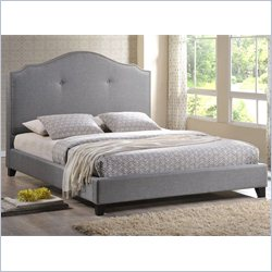 Marsha Full Platform Bed and Headboard in Gray