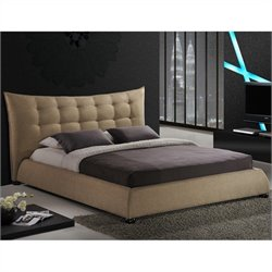 Marguerite Platform Bed in Dark Beige