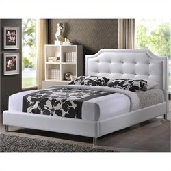 Carlotta Tufted Platform Bed in White