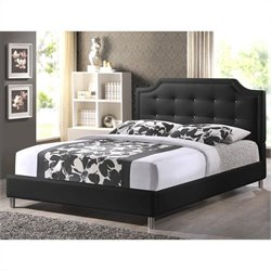 Carlotta Tufted Platform Bed in Black