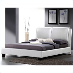Sabrina Leather King Platform Bed in White