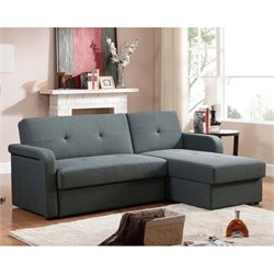 Leicestershire Fabric Sectional Sofa in Gray