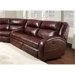 Maverick Double Reclining Sofa in Alfresco Chianti