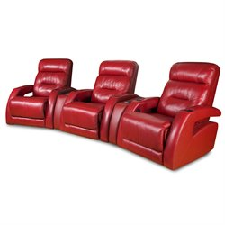 Viva 3 Seat Reclining Theater Seating in Surreal Burpee