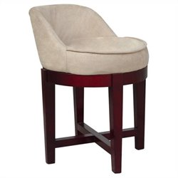 Swivel Chair in Cherry and Beige