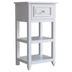 1-Drawer End Table in White