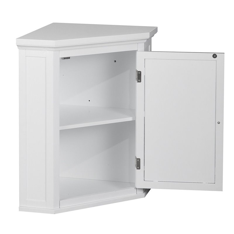 bathroom wall corner cabinets 1 door corner wall cabinet in white elg 587 11866