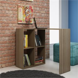 Manhattan Comfort Pescara Cubby Desk with 4 Shelves