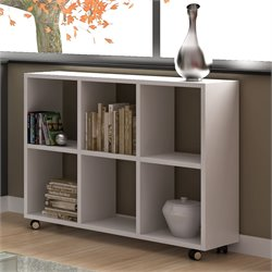 Manhattan Comfort Salvador 6 Cubby Bookcase in White