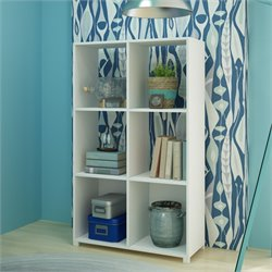Manhattan Comfort Natal Bookcase in White