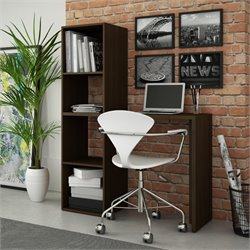 Manhattan Comfort Campania Cubby Desk with 4 Shelves