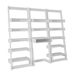 Manhattan Comfort Carpina 3 Piece Floating Ladder Bookcase
