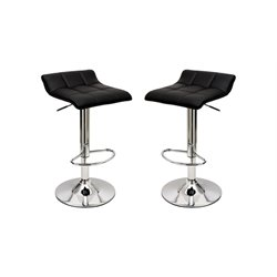 Manhattan Comfort Sleek Varick Adjustable Barstool (Set of 2)