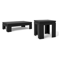 Manhattan Comfort Bridge Coffee Table and End Table Set