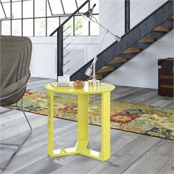 Manhattan Comfort Madison 2.0 Series Round End Table