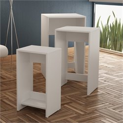 Manhattan Comfort Saffle 1.0 Series Nesting Table