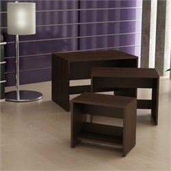 Manhattan Comfort Saffle 2.0 Series Nesting Table