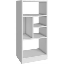 Manhattan Comfort Valenca 2.0 Seres 5 Shelf Bookcase in White