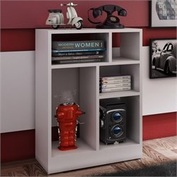 Manhattan Comfort Valenca 1.0 Series 5 Shelf Bookcase in White