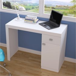 Manhattan Comfort Modena Writing Desk in White
