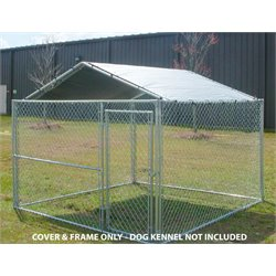 King Canopy 10' X 10' Kennel Cover in Silver
