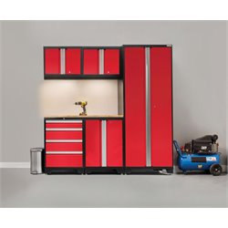 NewAge Products Bold 3.0 Series 6 Piece Cabinet Set in Red