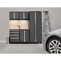 NewAge Products Bold 3.0 Series 6 Piece Cabinet Set in Gray