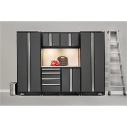 NewAge Products Bold Series 7 Piece Cabinet Set in Gray
